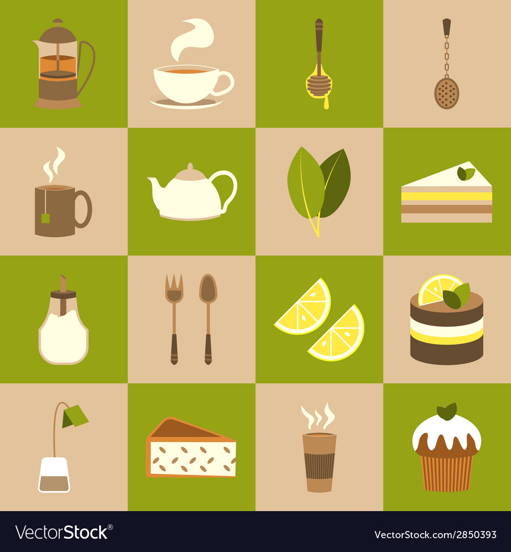 Tea icons set vector | Price: 1 Credit (USD $1)