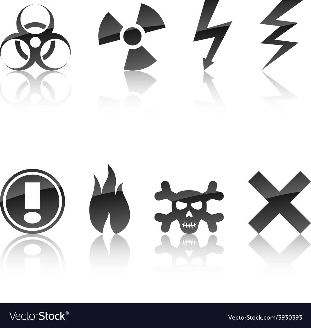 Warning icon set vector   Price: 1 Credit (USD $1)