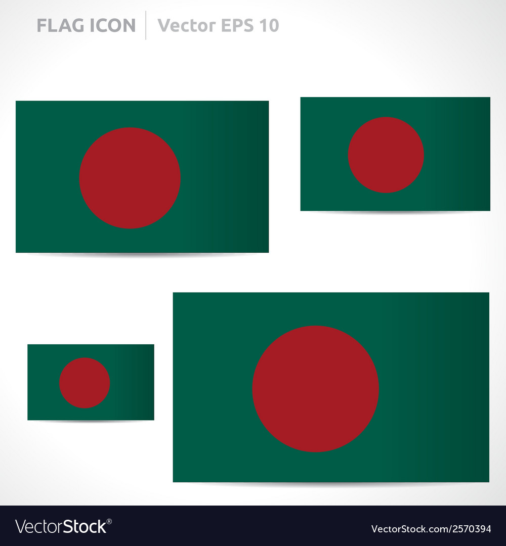 Bangladesh flag template vector | Price: 1 Credit (USD $1)