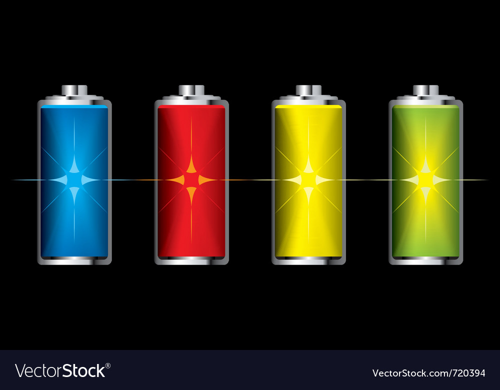 Batteries with flash charge icon vector | Price: 1 Credit (USD $1)