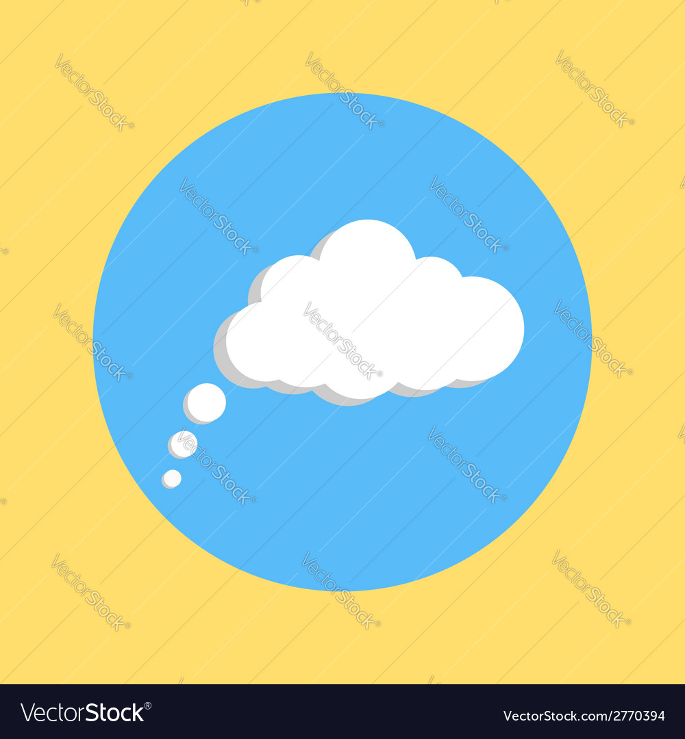 Communication cloud on yellow blue background vector | Price: 1 Credit (USD $1)