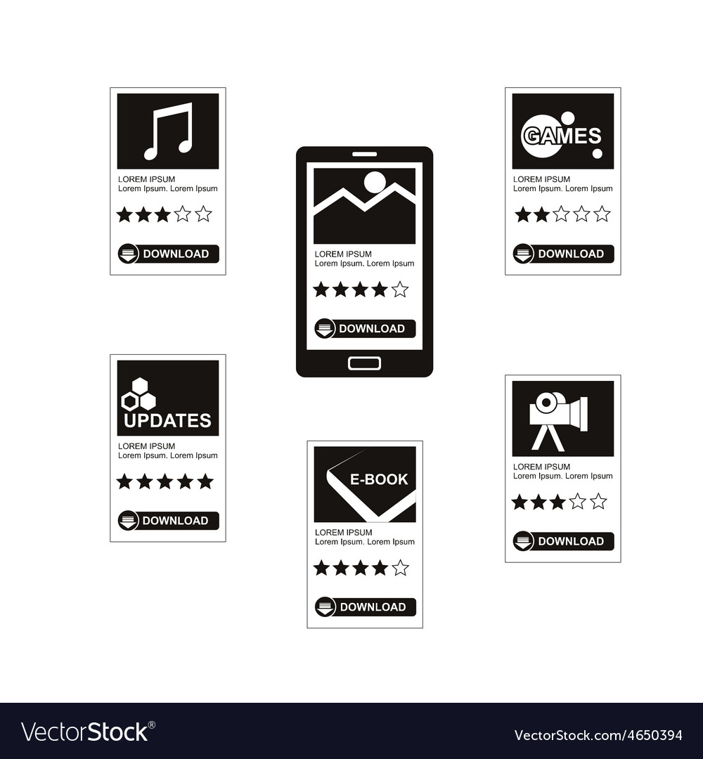 Download applications vector | Price: 1 Credit (USD $1)