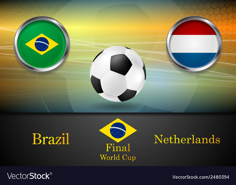 Final football brazil and netherlands in brazil vector | Price: 1 Credit (USD $1)