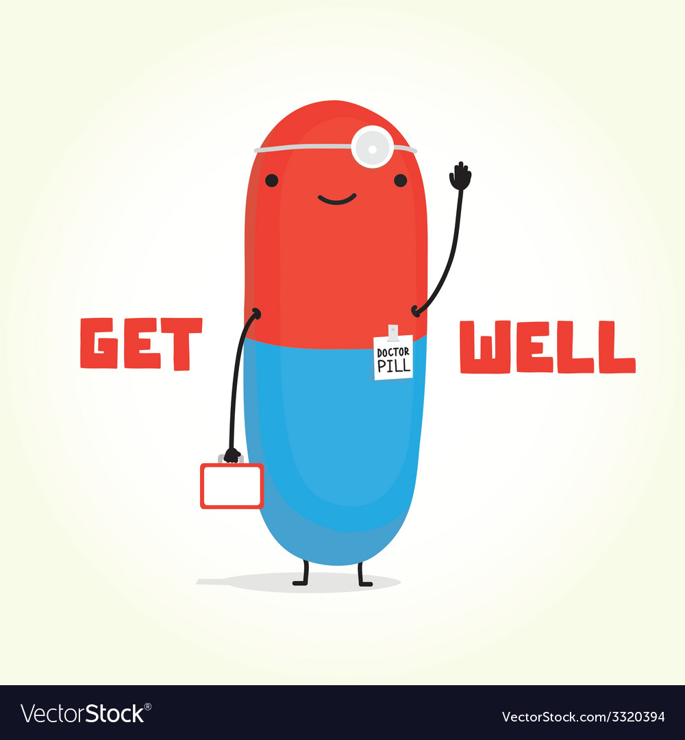 Get well with doctor pill vector | Price: 1 Credit (USD $1)
