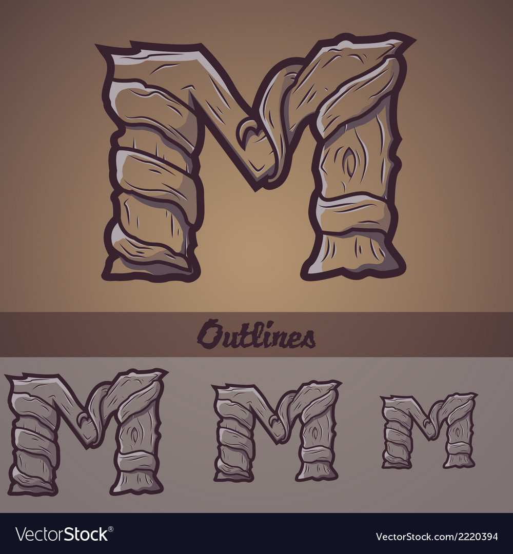 Halloween decorative alphabet - m letter vector | Price: 1 Credit (USD $1)