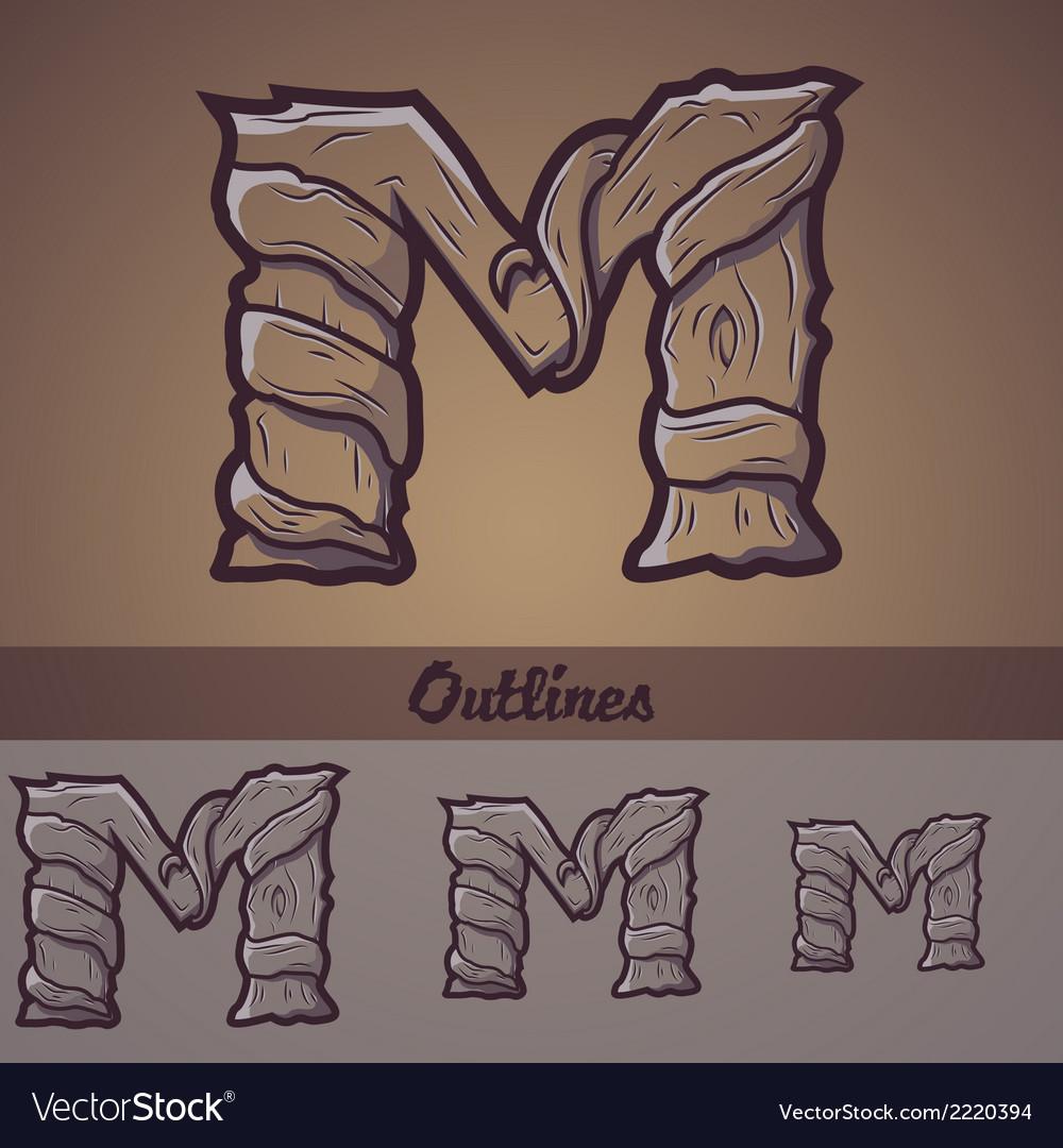 Halloween decorative alphabet - m letter vector | Price: 1 Credit (USD $1)