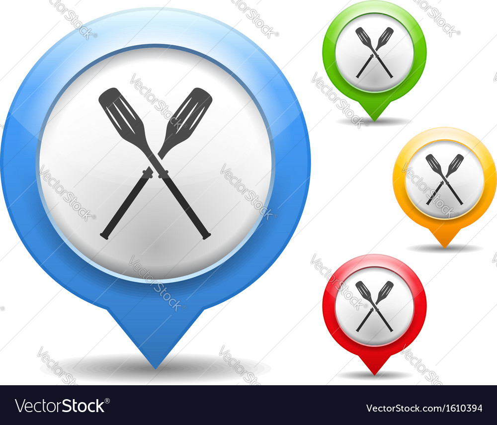 Oars icon vector | Price: 1 Credit (USD $1)