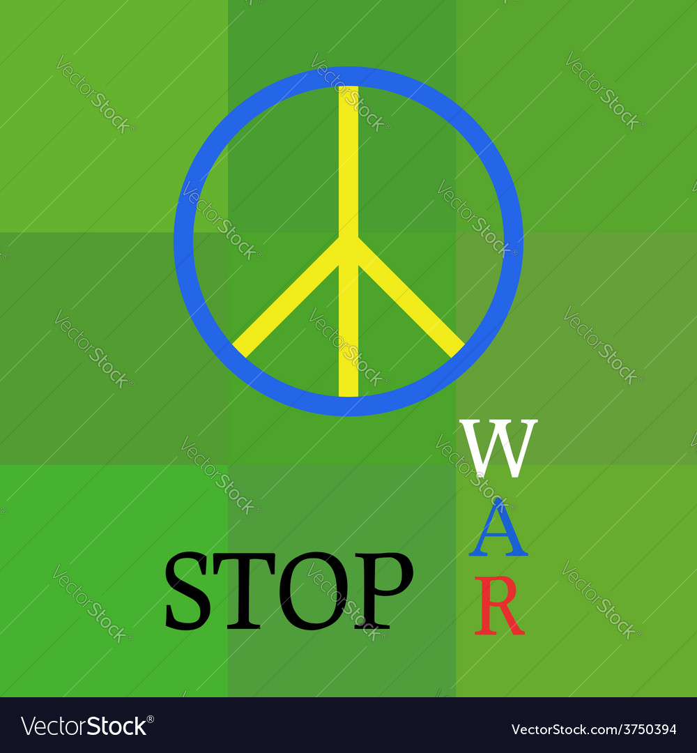 Peace template about war aggression vector | Price: 1 Credit (USD $1)