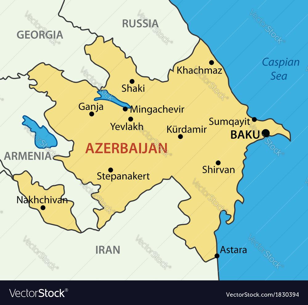 Republic of azerbaijan - map vector | Price: 1 Credit (USD $1)