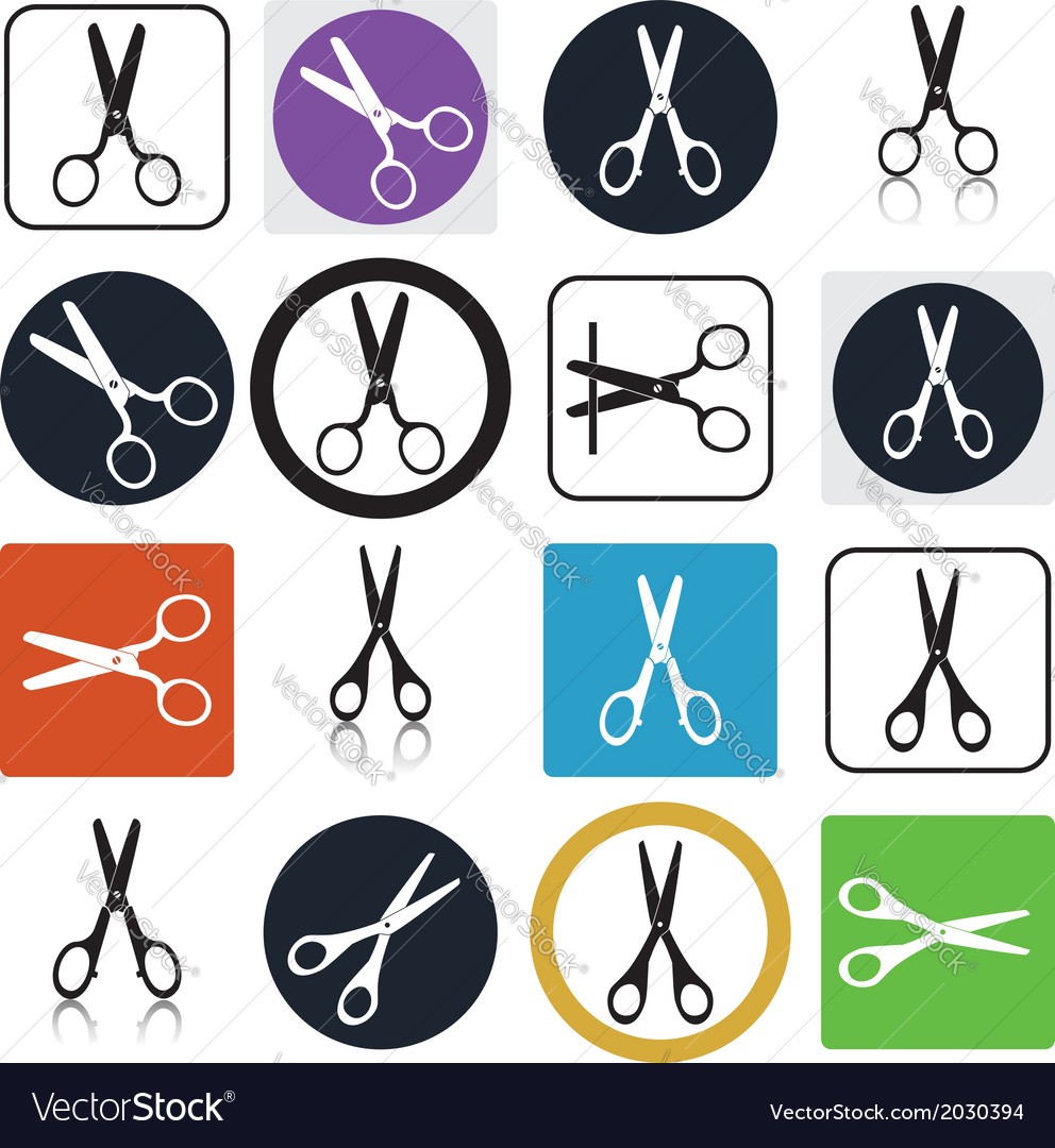 Scissors icons vector | Price: 1 Credit (USD $1)