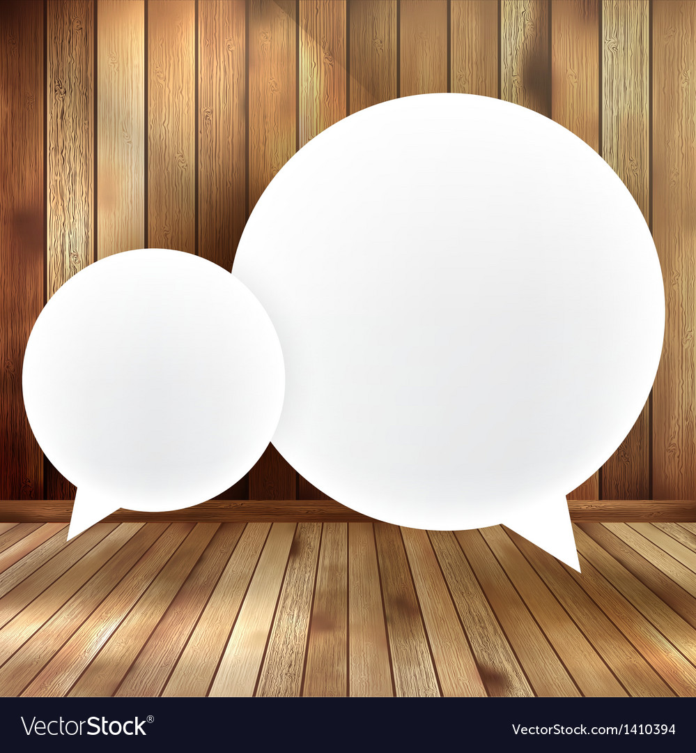 Speech bubble on wooden eps 10 vector | Price: 1 Credit (USD $1)
