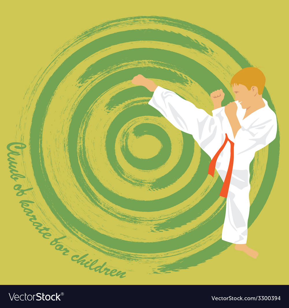 The the boy is engaged in karate vector | Price: 1 Credit (USD $1)