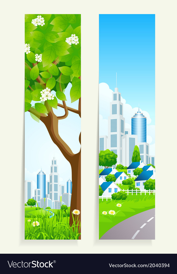 Two cool vertical banners vector   Price: 1 Credit (USD $1)