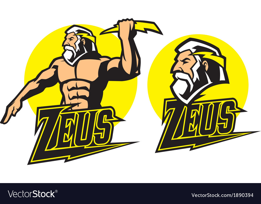 Zeus god mascot vector | Price: 3 Credit (USD $3)