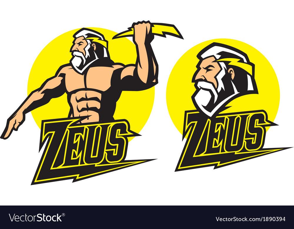Zeus god mascot vector | Price: 3 Credit (USD $3)