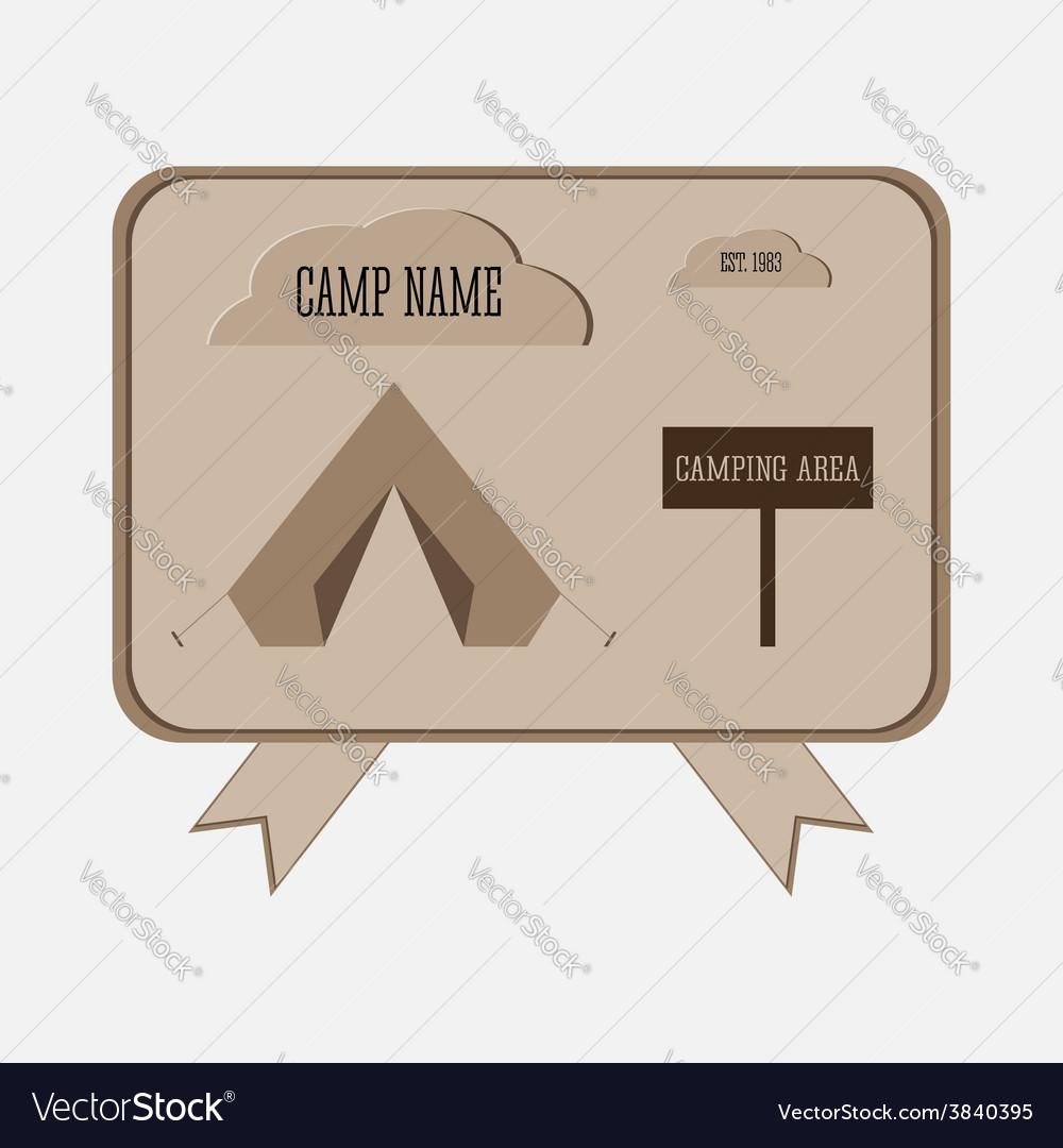 Camping adventure badge graphic design logo emblem vector | Price: 1 Credit (USD $1)