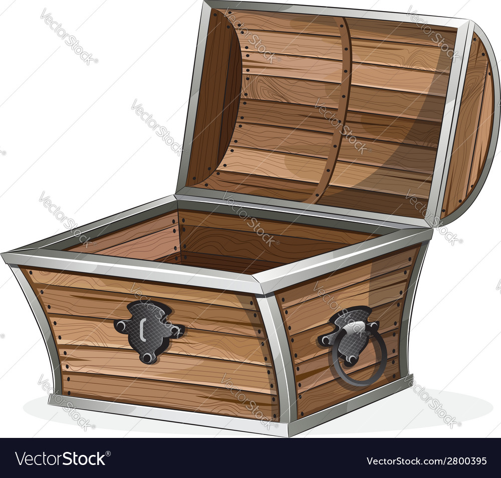 Empty wooden chest vector | Price: 1 Credit (USD $1)