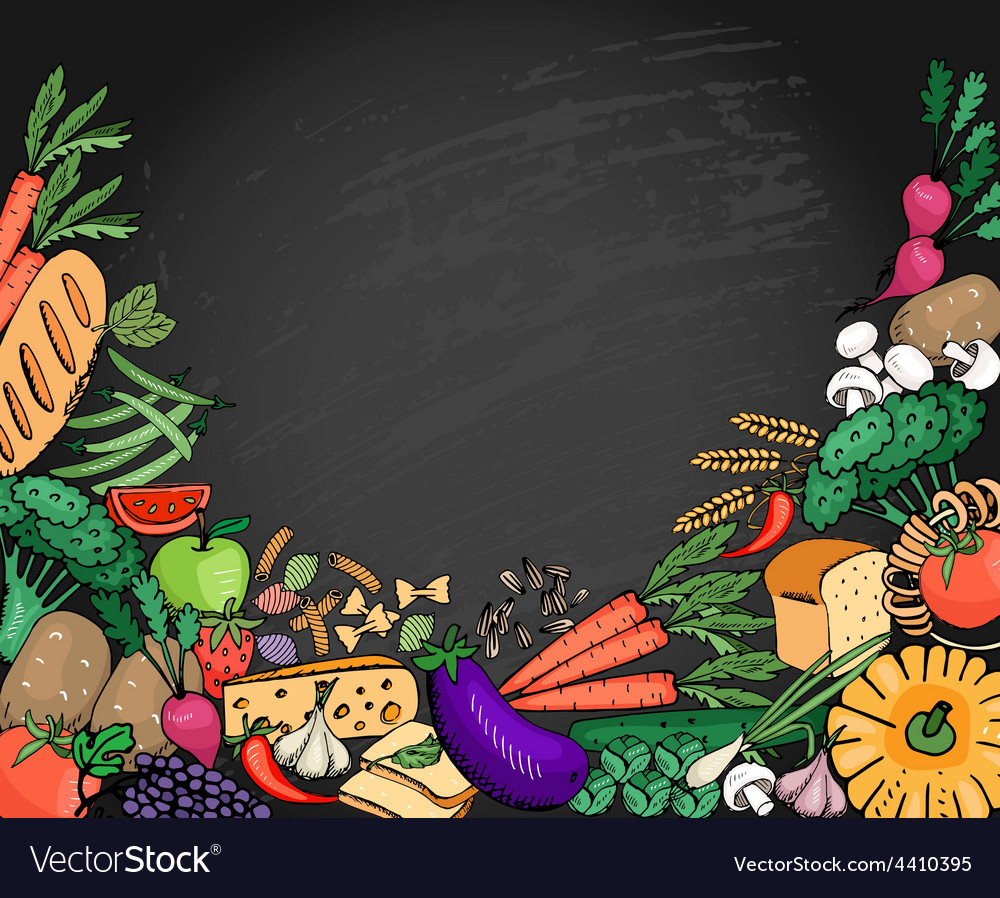 Food background italian menu with space for text vector | Price: 1 Credit (USD $1)