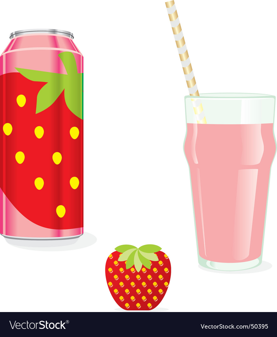 Juice cans and glass vector | Price: 1 Credit (USD $1)