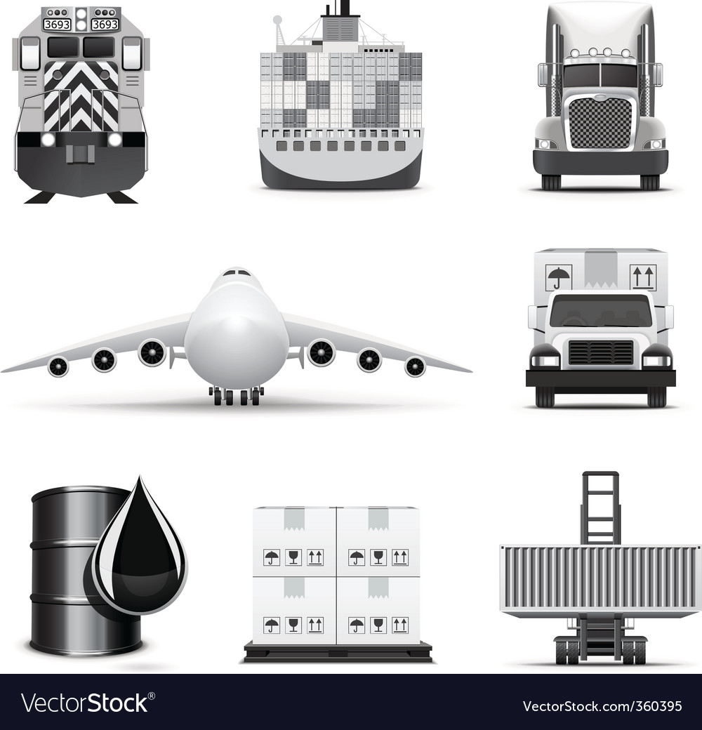 Logistic icons | bw series vector | Price: 3 Credit (USD $3)