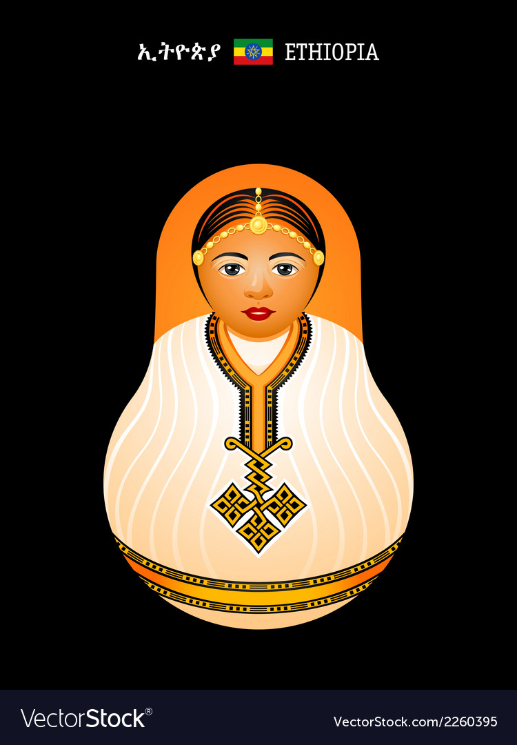 Matryoshka ethiopia vector | Price: 1 Credit (USD $1)