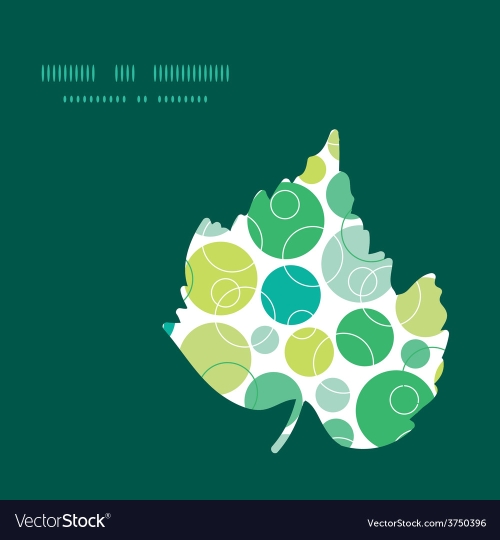 Abstract green circles leaf silhouette vector | Price: 1 Credit (USD $1)
