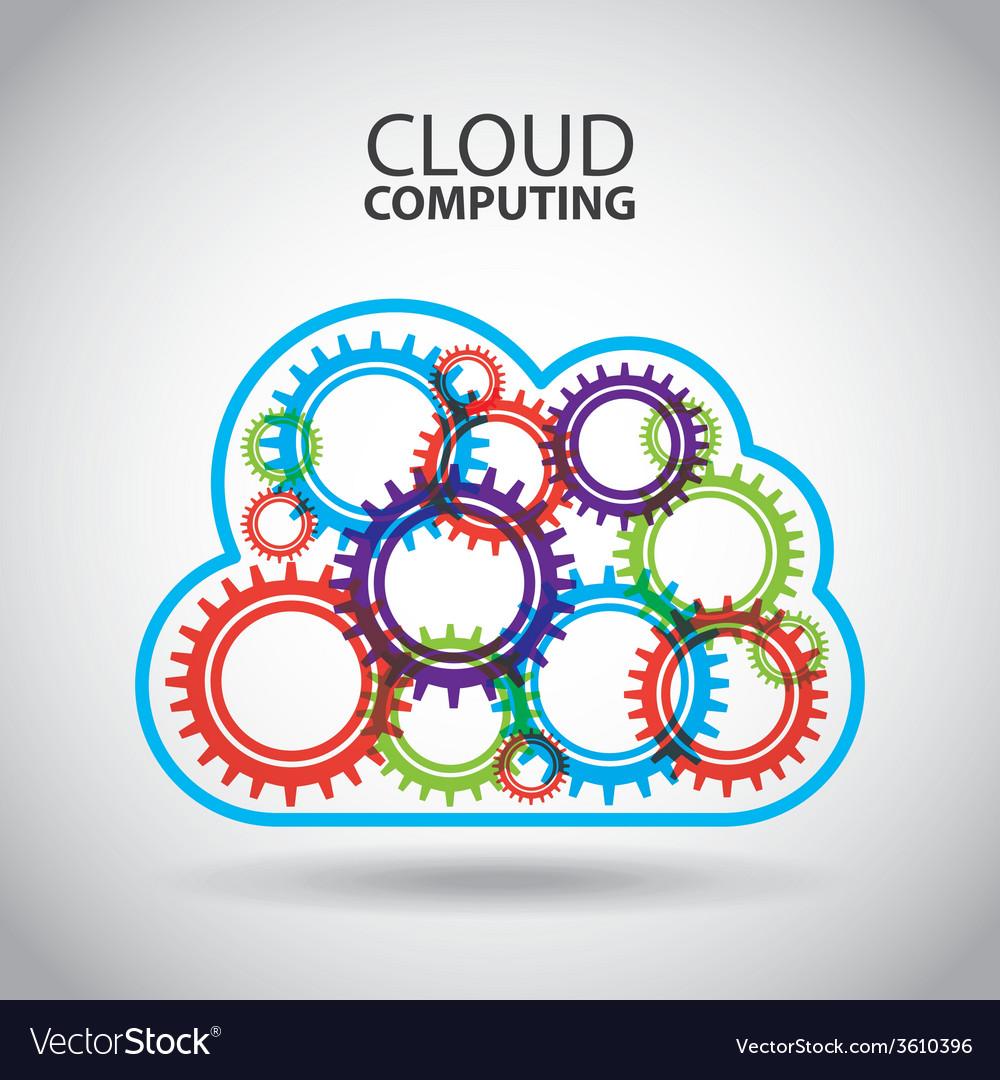 Cloud computing vector   Price: 1 Credit (USD $1)
