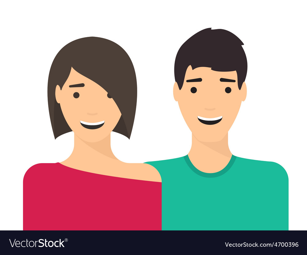 Couple man and woman in love vector | Price: 1 Credit (USD $1)