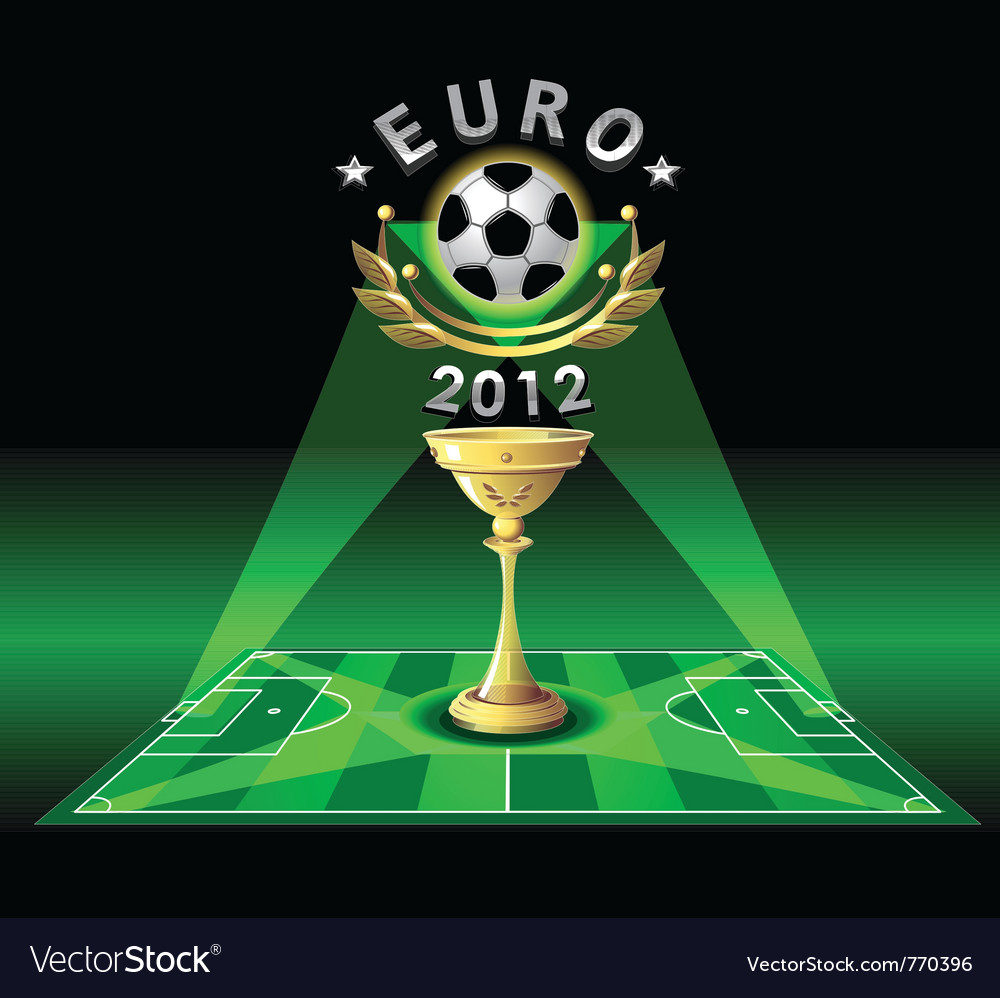 Cup of euro 2012 or demonstration football vector | Price: 1 Credit (USD $1)