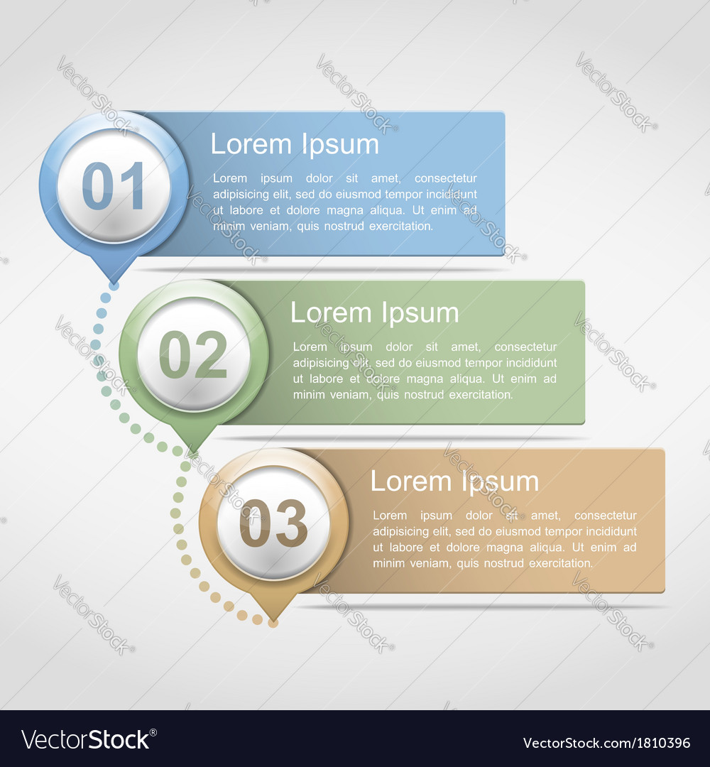 Design template with three elements vector | Price: 1 Credit (USD $1)