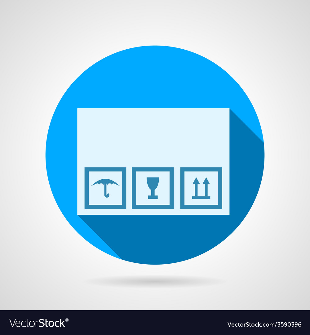 Flat icon for delivery box vector | Price: 1 Credit (USD $1)