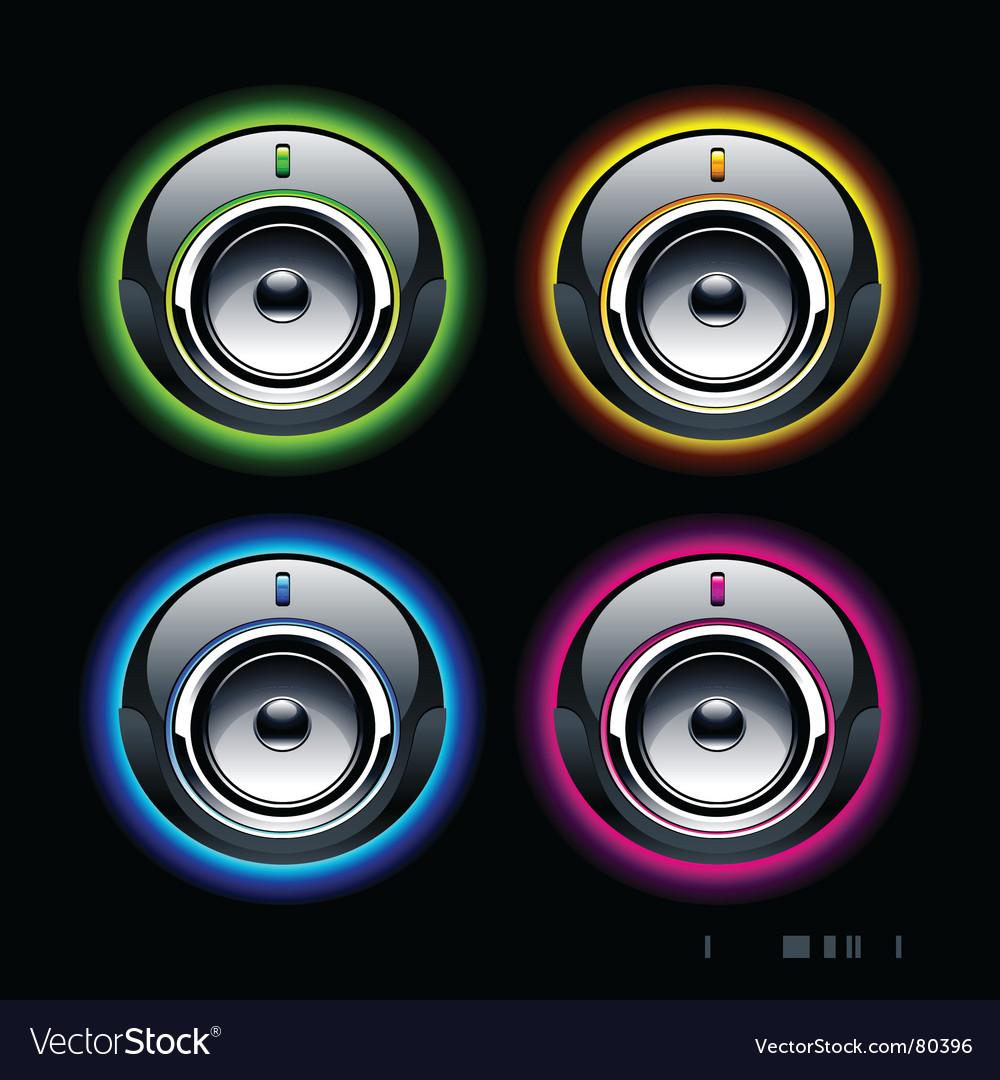 High tech speakers vector | Price: 1 Credit (USD $1)