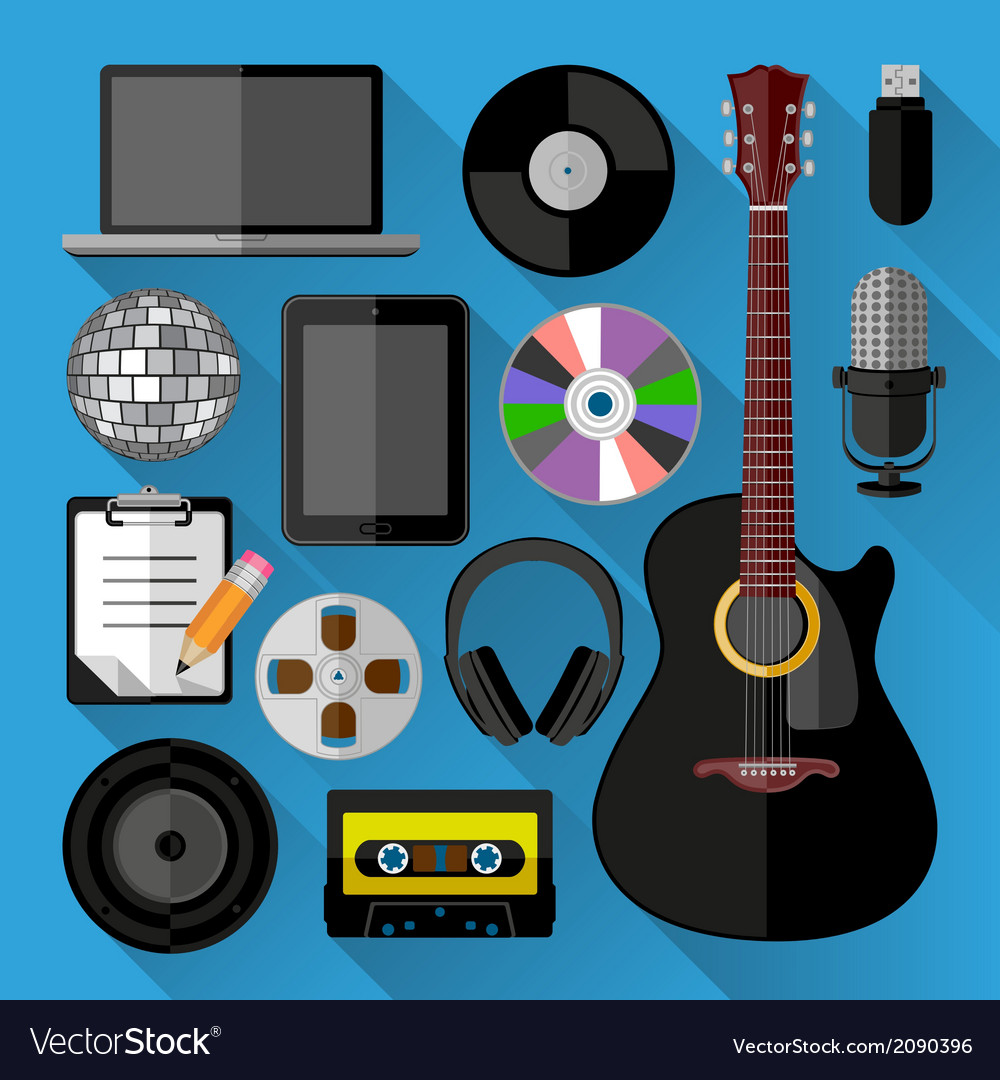 Music icons bundle vector | Price: 1 Credit (USD $1)