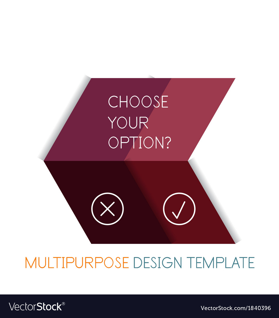 Paper geometric shape multipurpose design template vector | Price: 1 Credit (USD $1)
