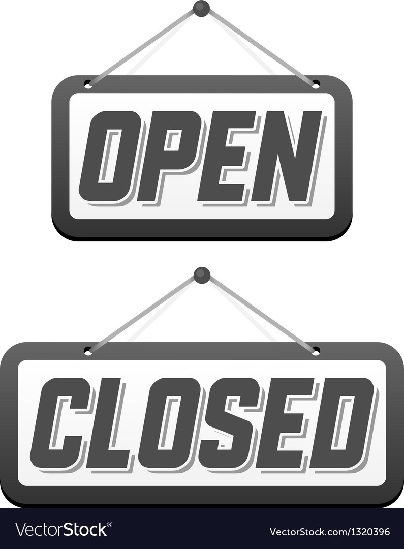 Retro signs open and closed vector | Price: 1 Credit (USD $1)