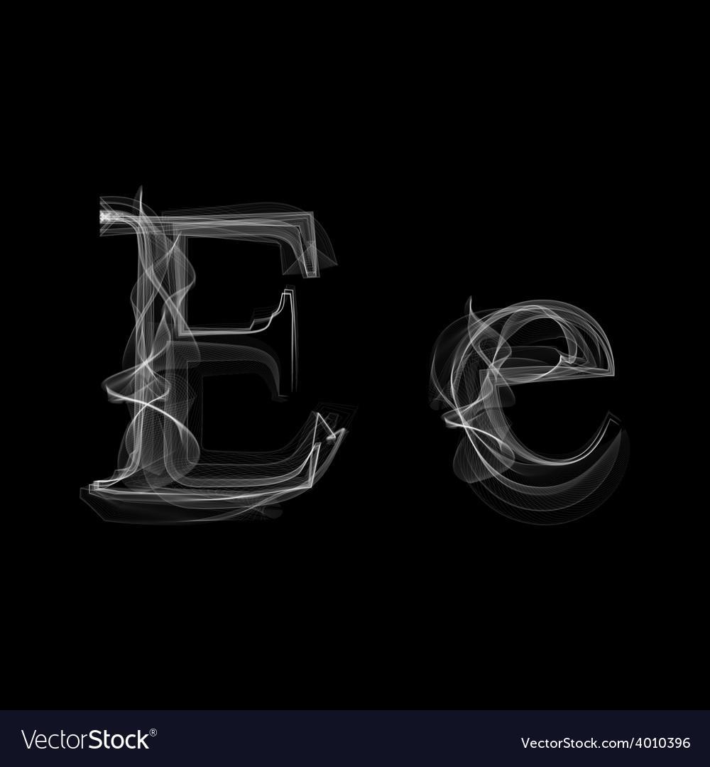 Smoke font letter e vector | Price: 1 Credit (USD $1)