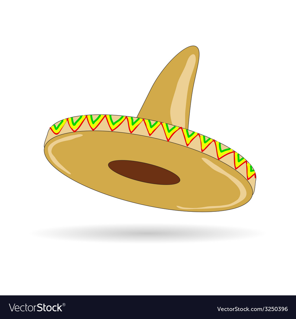 Sombrero hat from mexico vector | Price: 1 Credit (USD $1)