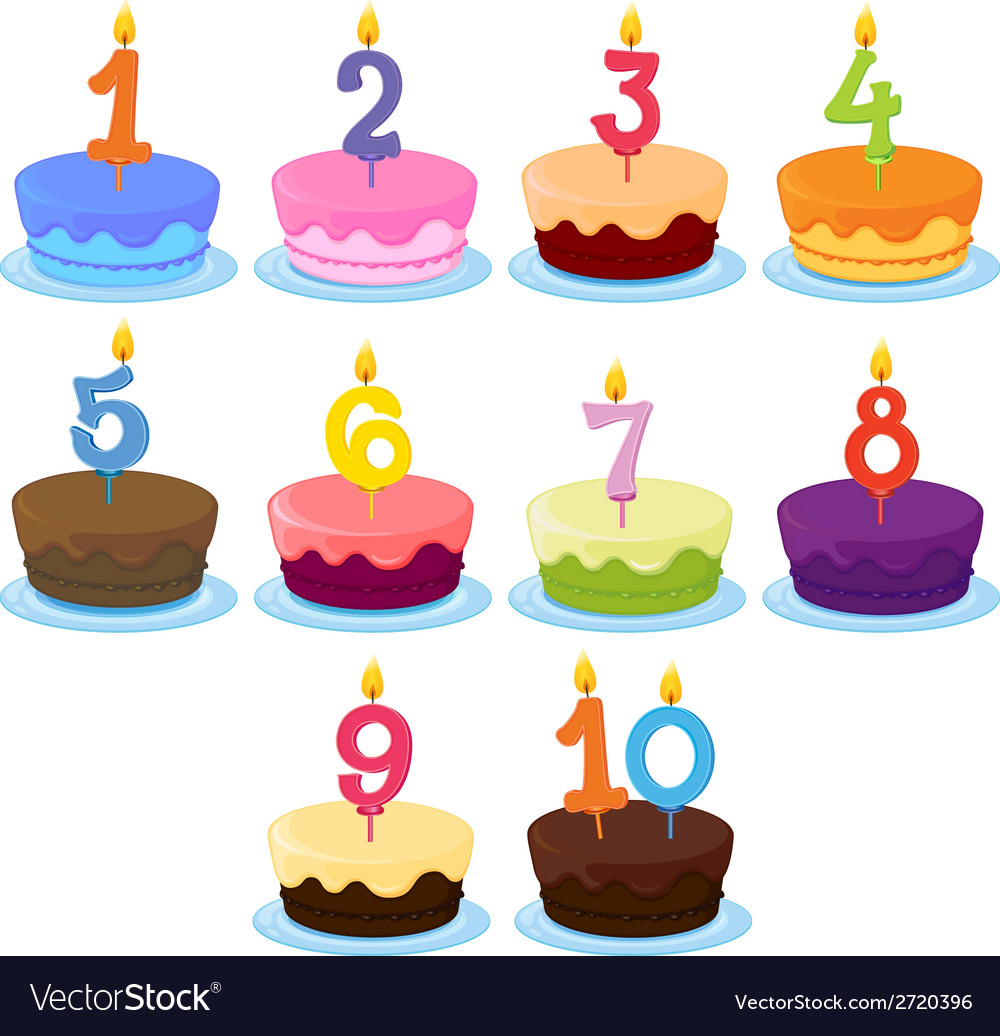 Ten cakes vector | Price: 1 Credit (USD $1)