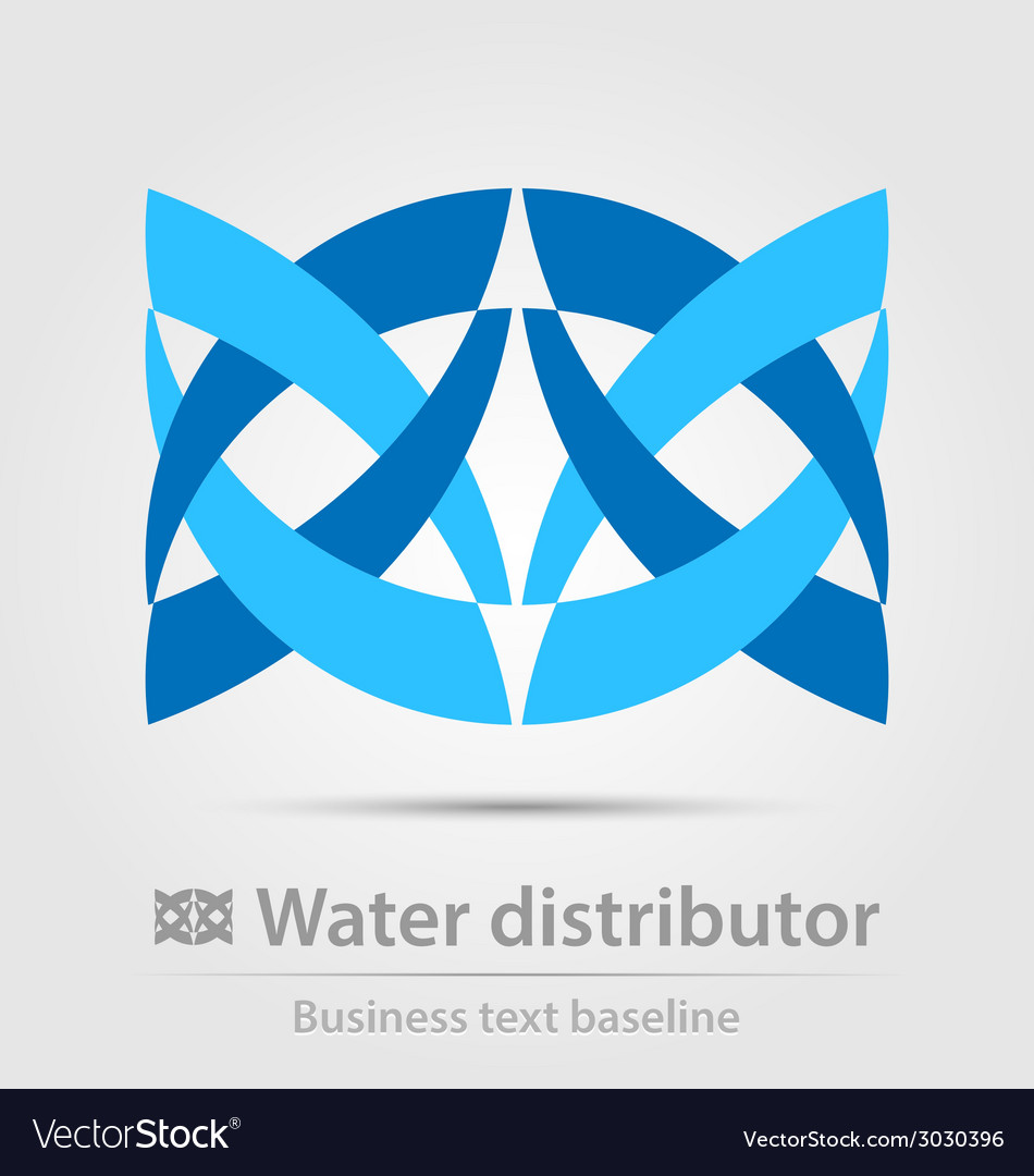 Water distributor business icon vector | Price: 1 Credit (USD $1)