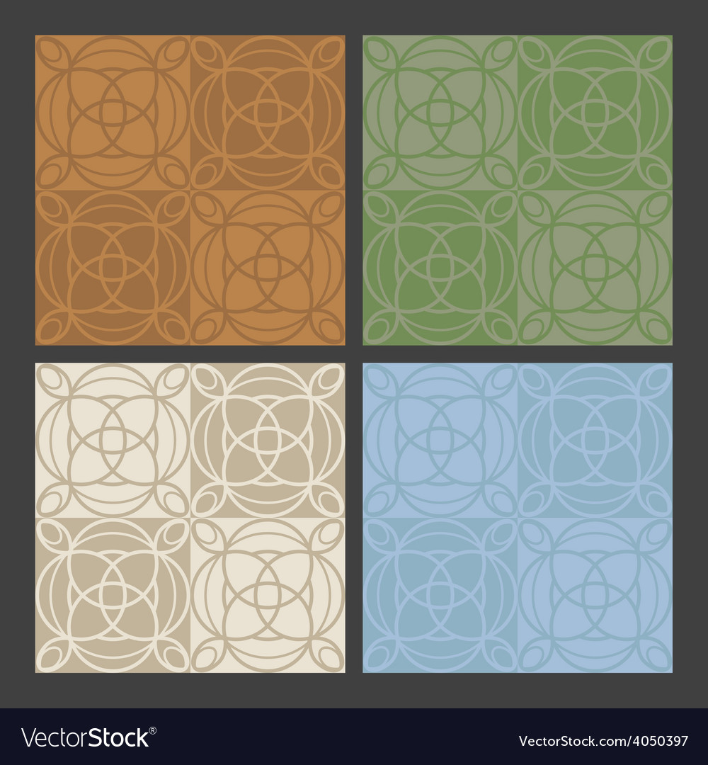 4 colors antique patterns vector | Price: 1 Credit (USD $1)