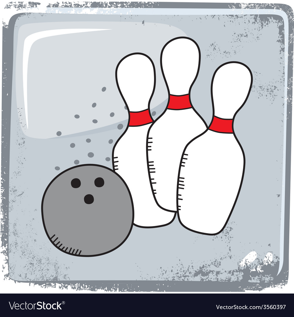 Bowling sports theme vector | Price: 1 Credit (USD $1)