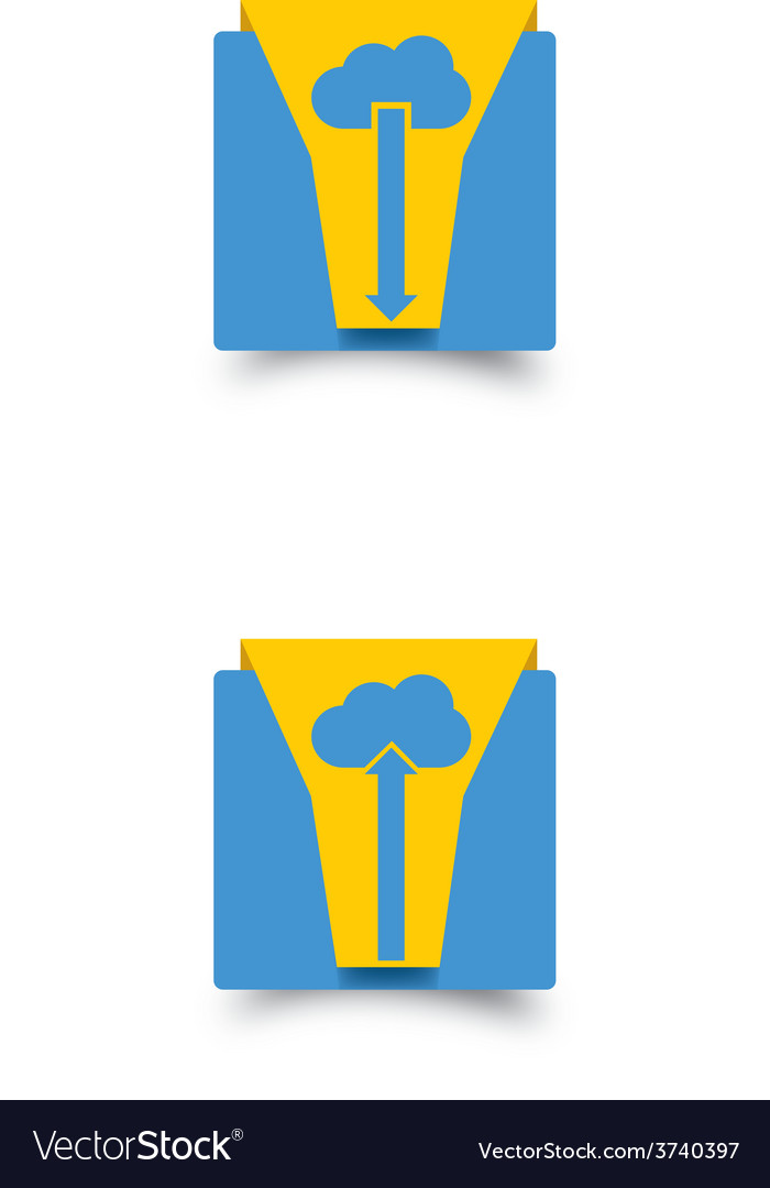 Cloud download and upload icon 14 vector | Price: 1 Credit (USD $1)