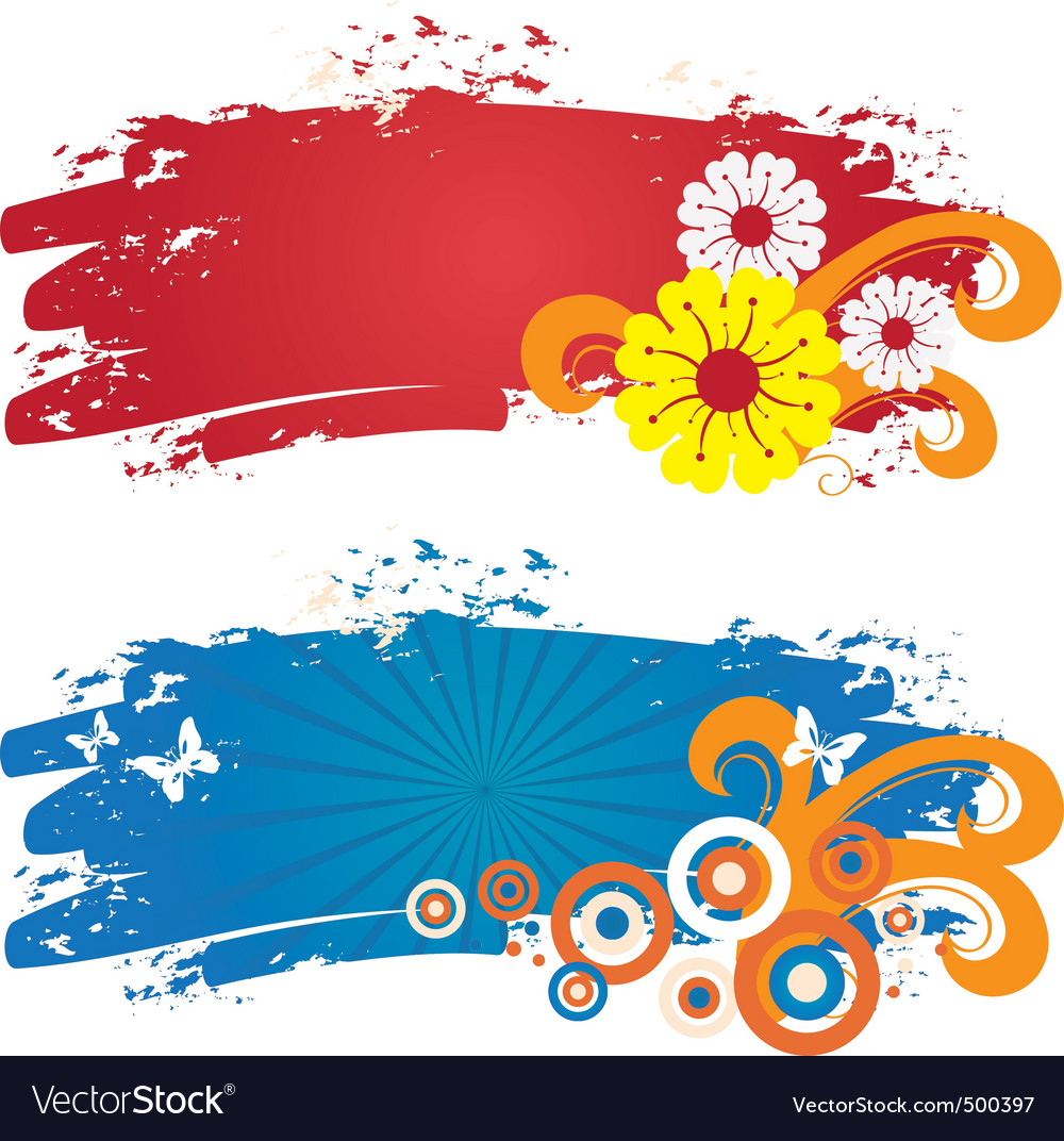 Color banners vector | Price: 1 Credit (USD $1)