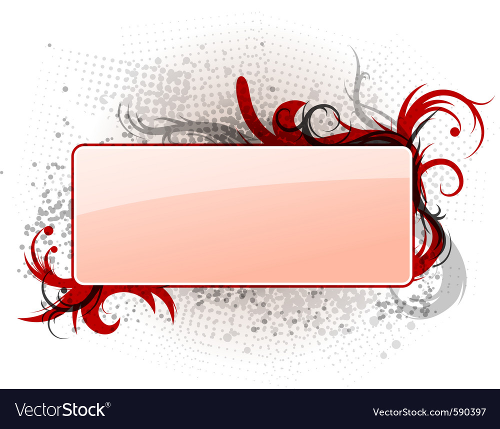 Empty banner vector | Price: 1 Credit (USD $1)