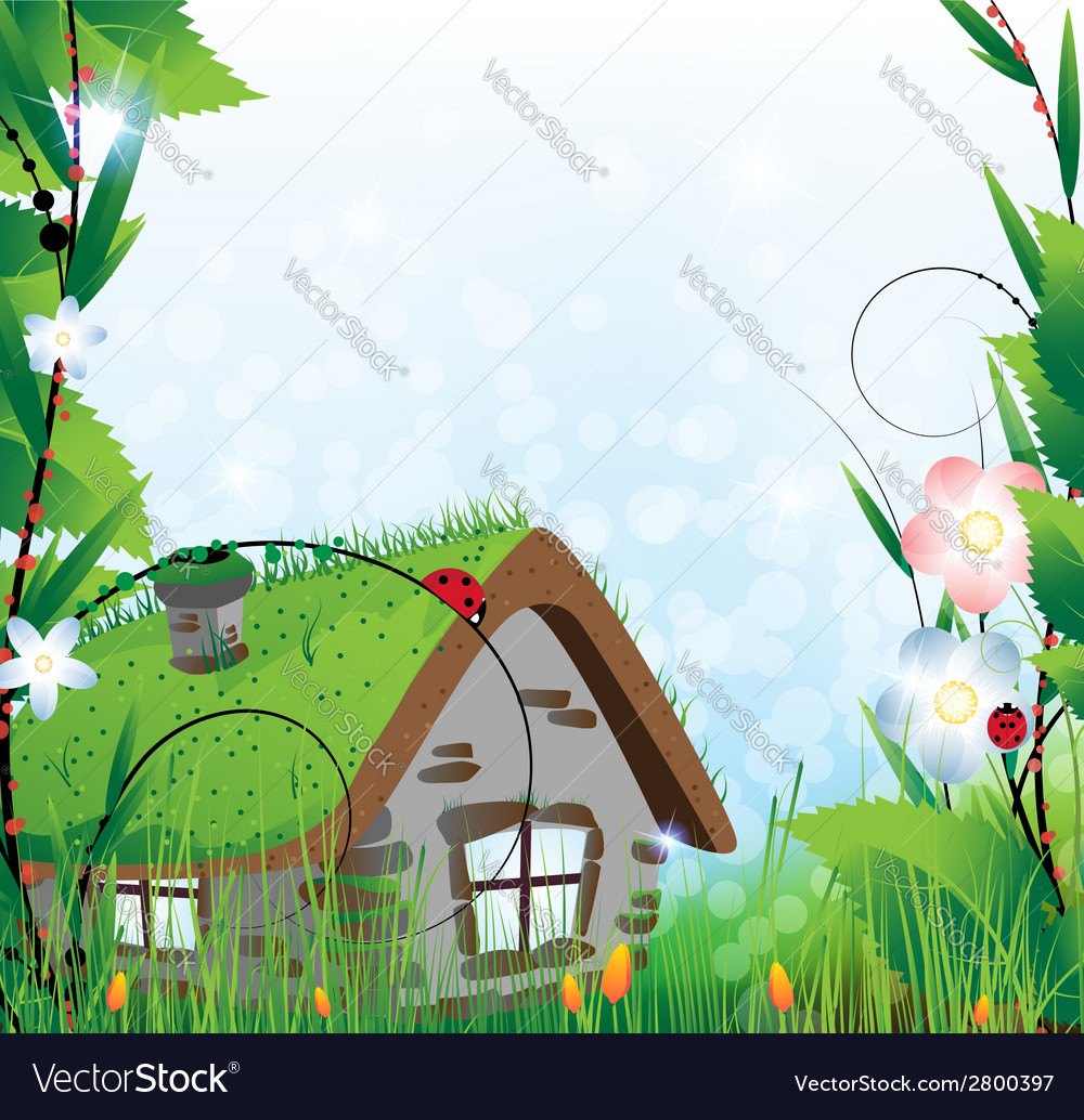 Fairy house vector | Price: 1 Credit (USD $1)