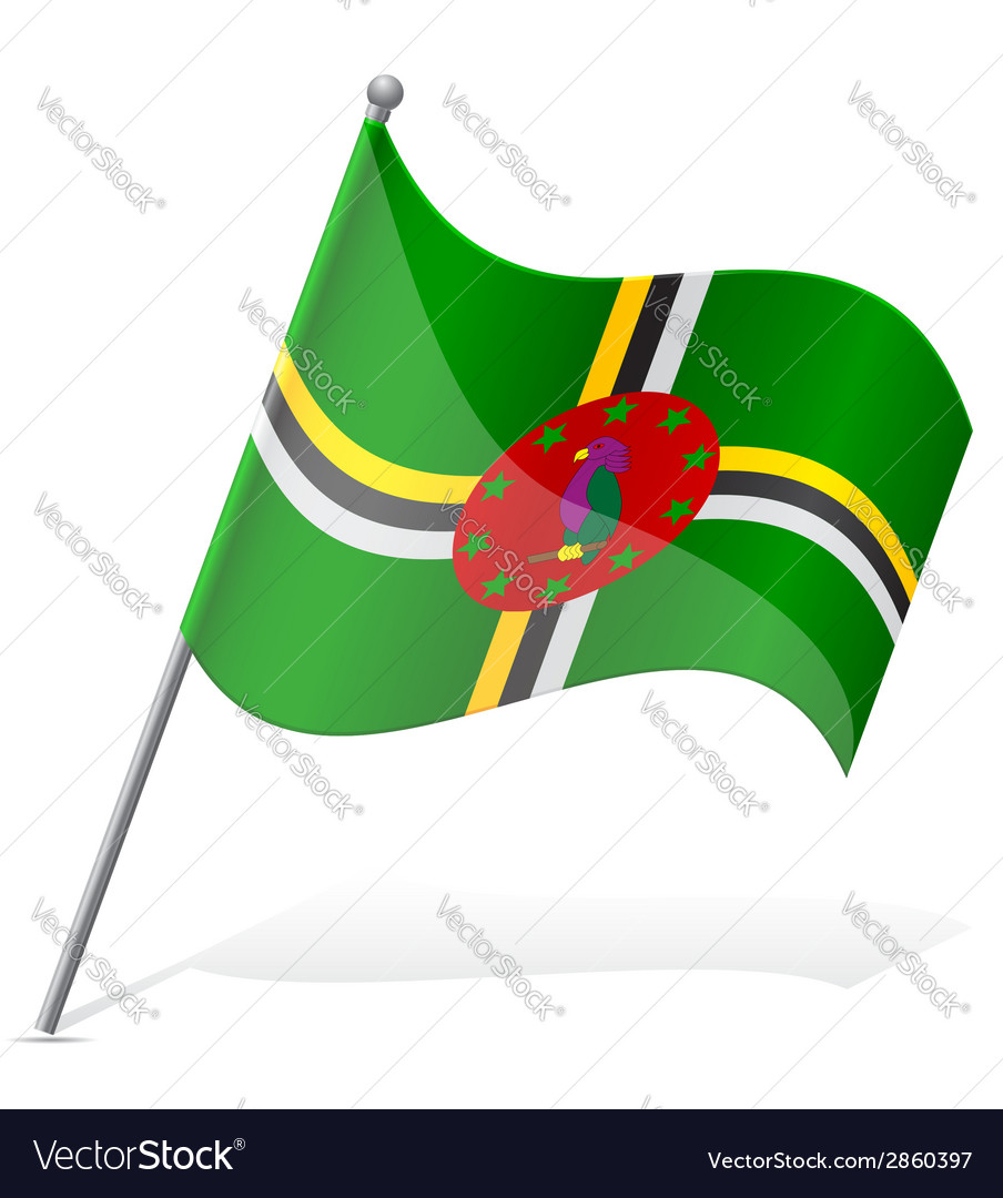 Flag of dominica vector | Price: 1 Credit (USD $1)