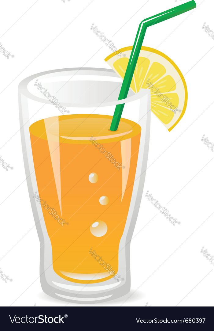 Glass of fruit juice vector | Price: 1 Credit (USD $1)