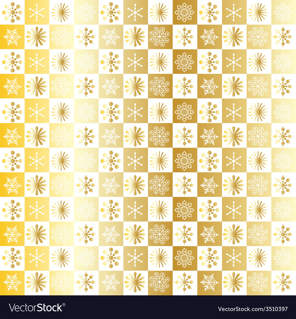 Gold snowflake pattern vector | Price: 1 Credit (USD $1)
