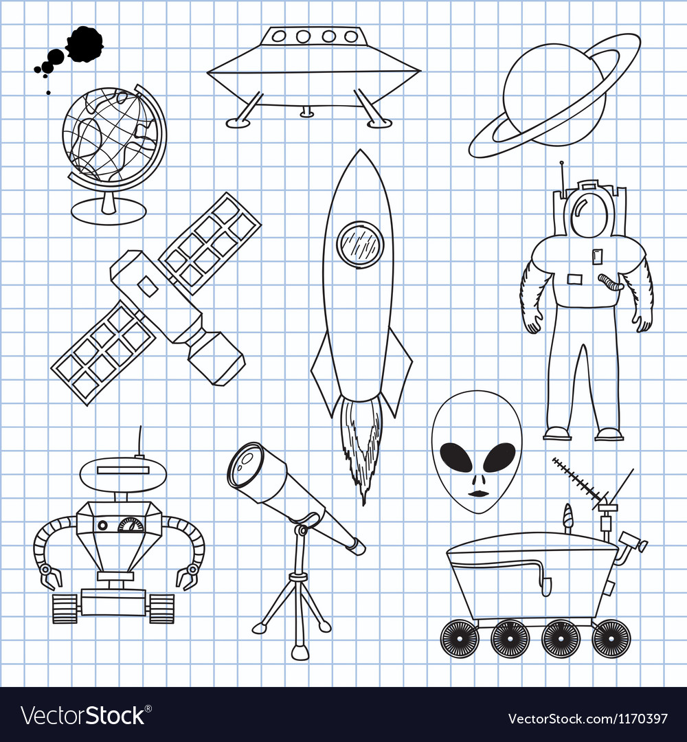 The images on the theme of outer space vector | Price: 1 Credit (USD $1)
