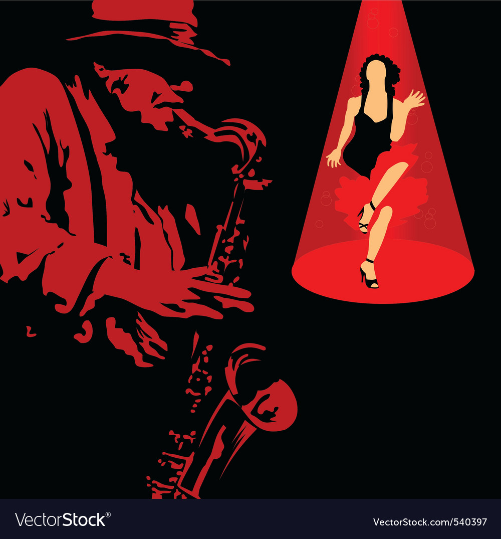 Jazz singer vector | Price: 1 Credit (USD $1)